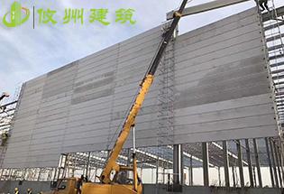 深圳坪山沃尔玛普洛斯物园ALC超高防火墙案例