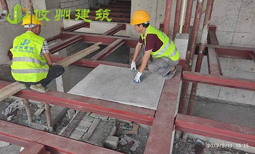 深圳帝豪钢骨架轻型楼板安装项目